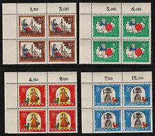 1967 Germany Set Sc#B426-9 Mi#538-41 Numeral Corner Margins MNH VF