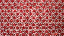Vestido de boda red de encaje floral nupcial Tela 112 cm Ancho Vendido por metros