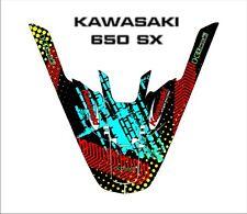 kawasaki 650 sx jet ski wrap graphics pwc stand up jetski decal kit 4
