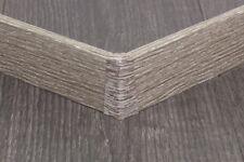 Innenecke Außenecke Verbinder Kappen für Sockelleiste 58mm Cube Eiche Pinie Grau
