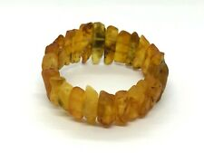 Raw Rough Unpolished Healing Natural Baltic Amber Elastic Bracelet 23,5gr #4714