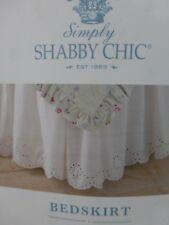 Simply Shabby Chic Lace White Twin Bedskirt Bed Skirt NIP