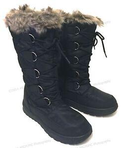 Brand New Womens Winter Boots Snow Fur Warm Insulated Waterproof Zipper Ski Shoe