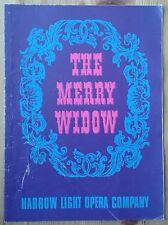 The Merry Widow programme Harrow Light Opera Company 1968 Raymond Jeffery