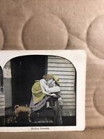 """Vintage """"stolen Sweets """" Dog Stereoview Photo Card"""