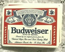 "vintage ""Budweiser"" Anheuser Busch Beer Playing Cards king of beers Poker Rare"