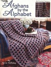 NEW AFGHANS BY THE ALPHABET 26 CROCHET DESIGNS OOP