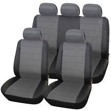 FIAT DUCATO (07+) URBAN GREY/BLK LEATHER SEAT COVERS FOR