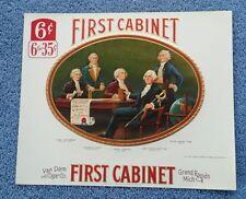 Vintage First Cabinet Inner Embossed Cigar Label