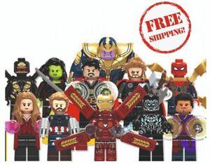 Lego Avengers Minifigures Marvel XMen DC Iron Man Thor Captain America Thanos