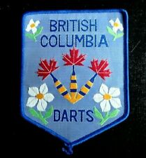 Vintage British Columbia Darts Patch