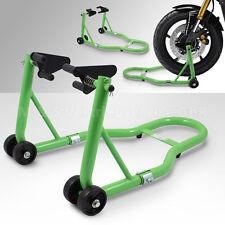 BITUXX® Motorradständer Vorderrad Motorrad Montageständer Transportständer Grün