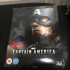Captain America The First Avenger 3D Blu-ray Lenticular Steelbook | UK Zavvi NEW