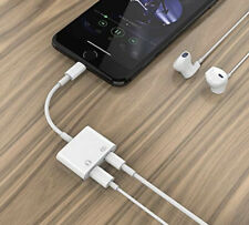 2 in 1 Lightning Headphone Audio & Charger Adapter for Apple iPhone