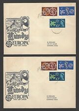 GB CEPT set + Lundy 1961 Europa combination FDCs (25)