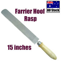 "FARRIER HOOF RASP 15"" LENGTH BLADE DOUBLE SIDED WITH WOODEN HANDLE"