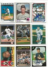 97 New York Yankees Signed Baseball Cards