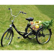 24 Zoll Dreirad für Erwachsene, 6 Gang Senioren Shopping Fahrrad mit Korb