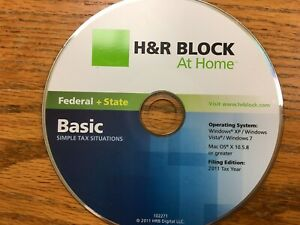 2011 H&R Block TaxCut Federal + State Basic turbo New  CD formerly Tax Cut
