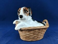Royal Doulton Terrier Puppy in Basket Hn2587
