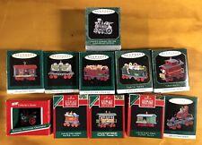Entire Series Of 10 Hallmark Miniature Christmas Ornaments- Noel Rr + Bonus !