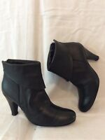 Lolita Black Ankle Leather Boots Size 37