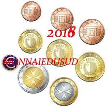 Série 1 Cent à 2 Euro BU Malte 2018 avec Poinçon F - Série Brillant Universel I