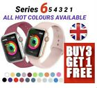 For Apple Watch Strap Band iWatch Series 7 6 SE 5 4 3 38/40/42/44 SILICONE Sport <br/> 🔥BUY 3 GET 1 FREE ADD 4 TO BASKET🔥TRUSTED UK SELLER🔥