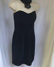 Karen Lucas Collection Size M Dress Evening Sleevless Black Black Beads USA