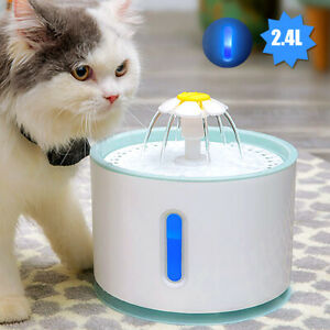 2.4L Automatic Pet Water Fountain Cat Water Dispenser with 1 Replacement Filter