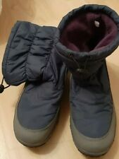 LADIES WOMENS WINTER WARM GRIP SOLE SNOW QUILTED LOW CALF BOOTS SIZE 39