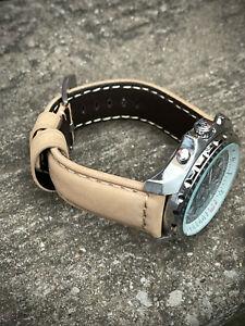 Genuine Brown Leather Watch Strap 22/20mm 24/22mm Lug Watches