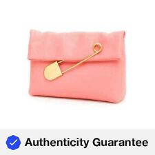 Burberry Bright Coral Pink Medium Flap Pin Clutch 4075930