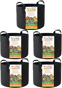 Smart Pots 3,7,10,15 GALLONS Plant Aeration Container 5 PACK Grow Bags Garden
