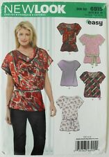 New Look 6915 EASY Misses Tops Tunics Sewing Pattern Sz 8-18