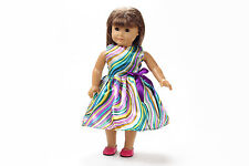 2017 Best gift cute clothes outfit for 18inch American girl doll party b19