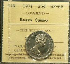 1971 Canada 25 Cents ICCS SP 66 Heavy Cameo #3338