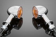 CHROME TURNSIGNAL/INDICATORS PAIR Motorcycle/Harley/Chopper/Custom 68-203339