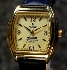 Russian Mechanical Automatic watch Record 21 jewel gold color of case Gold Dial