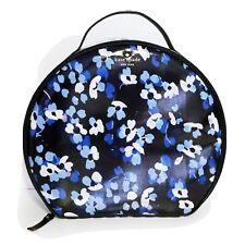 Kate Spade Cedar Street Miri Blue Floral Travel Train Cosmetic Case Bag