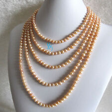 """Pearl Zone Freshwater Pearl Necklace 5-7mm Off Round/Rice 100"""" 50"""" 34"""" 22"""""""
