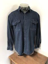 Mens Oversized Medium VINTAGE LEE Denim Button Up Long Sleeve Shirt