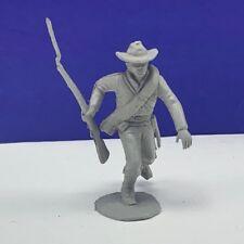 Louis Marx civil war toy soldier gray south confederate vtg figure cowboy hat us