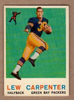 1959 Topps #95 Lew Carpenter Green Bay Packers halfback NM condition