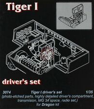 CMK 1/35 German Tiger I Tank Driver's Compartment Set WWII (for Dragon kit) 3074