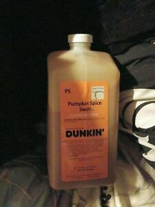 Dunkin donuts pumpkin Spice swirl syrup new!April 2021 dd