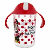 Disney Authentic Minnie Mouse Kids Sippy Cup 12oz Red Polka Dot New