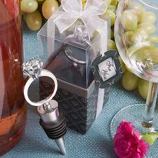 12 Diamond Ring Wine Bottle Stoppers Bridal Shower Wedding Favors