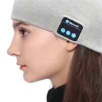 Bluetooth Wireless Hat Headset Warm Sport Headphone Cap Earphone Handsfree Mic