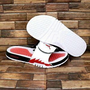 Nike Jordan Hydro 5 Retro Slides White Fire Red 555501-101 Men's Sandal Slippers
